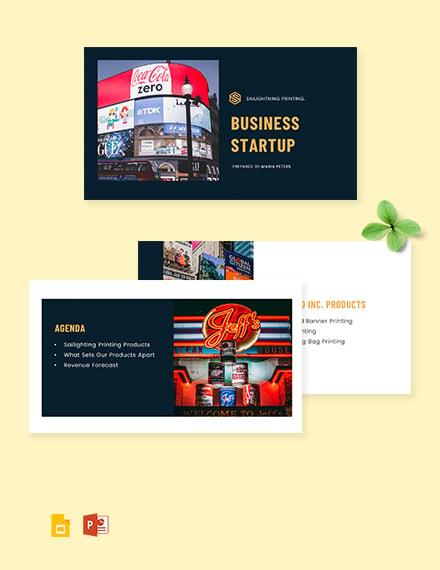 Business Startup Presentation Template
