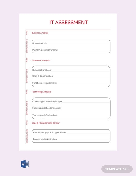 Free IT Assessment Template