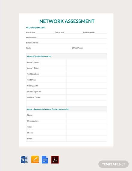 Free Network Assessment Template