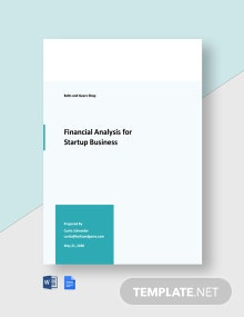 Financial Analysis for Startup Business Template