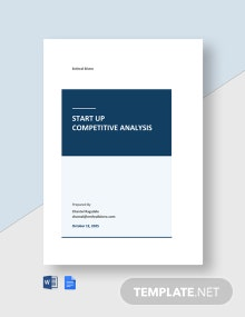 Startup Competitive Analysis Template