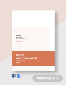 Startup Competitor Analysis Template
