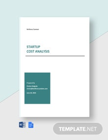 Startup Cost Analysis Template