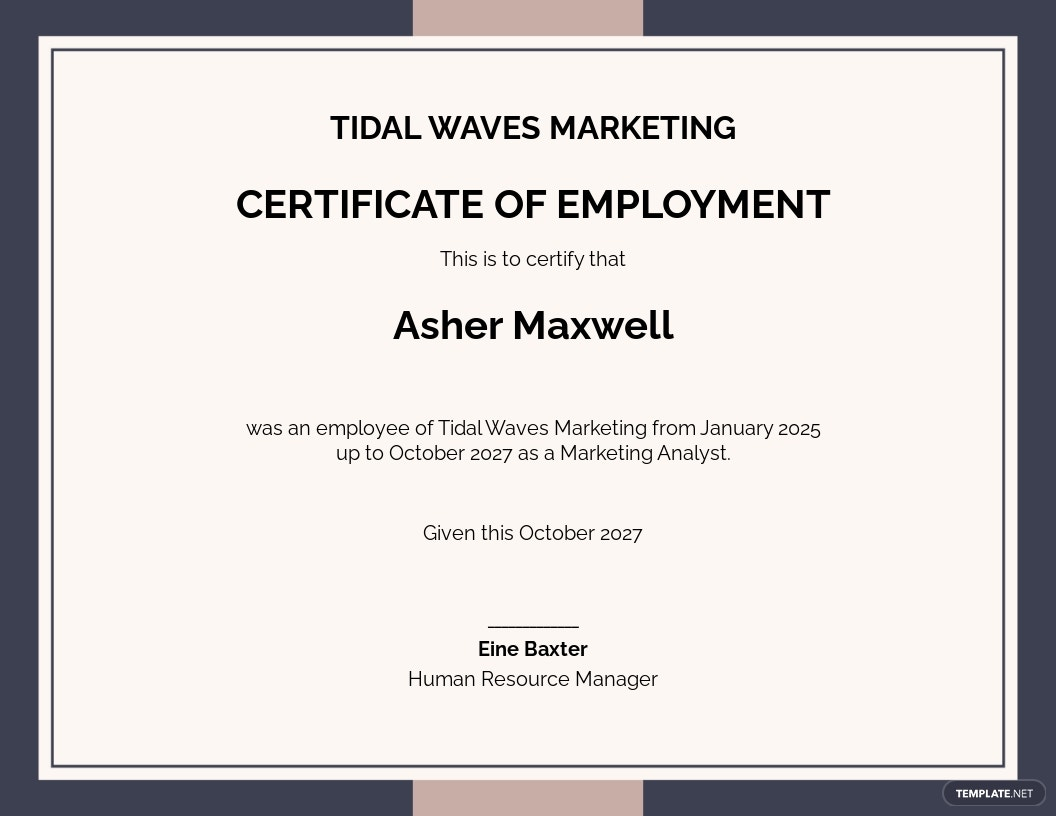 Free Certificate of Employee Excellence Template