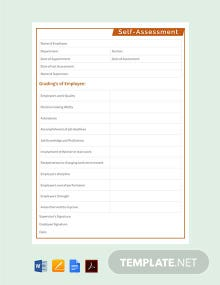 Free Self Assessment Template