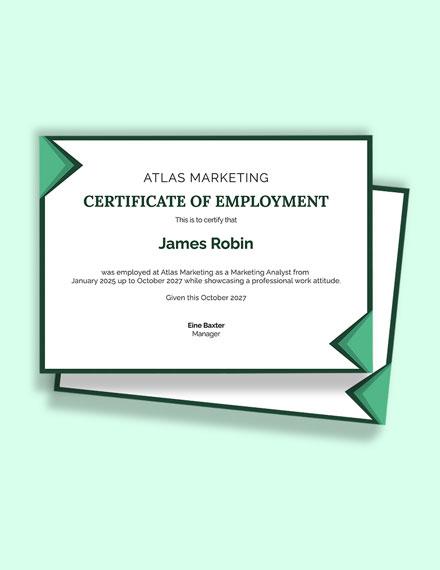 Free Employee Job Experience Certificate Template