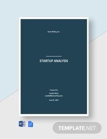 Startup Analysis Template