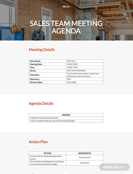 Free Business Agenda Template