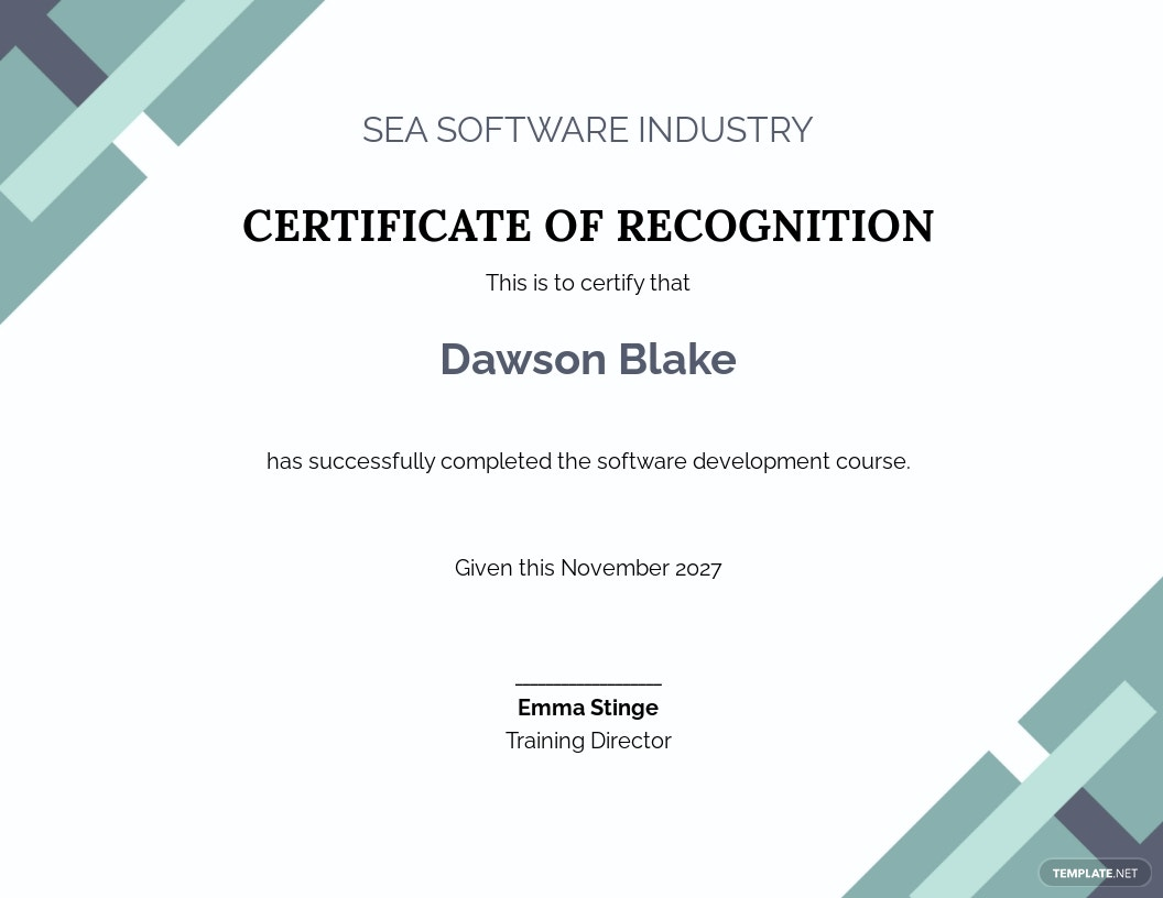 Free Software Certificate Template.jpe