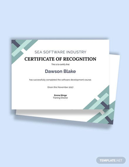 Free Software Certificate Template