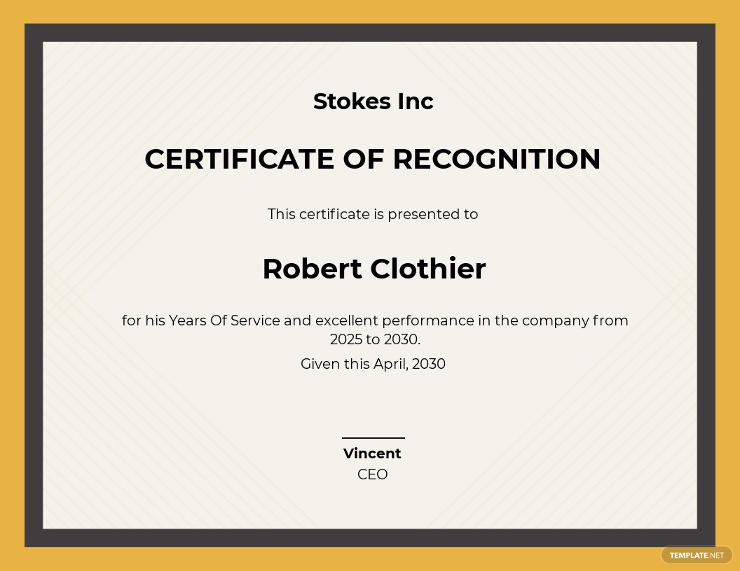 Years Of Service Recognition Certificate Template.jpe