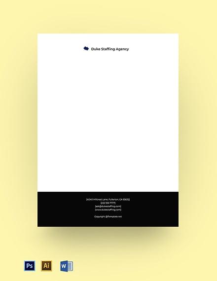 Free Simple Agency Letterhead Template