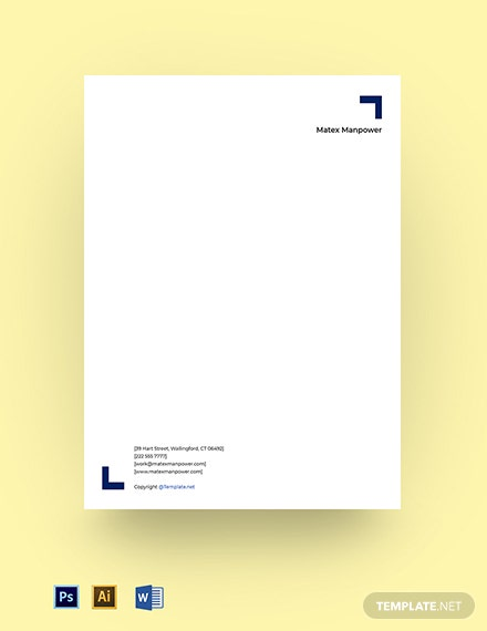 Free Sample Agency Letterhead Template
