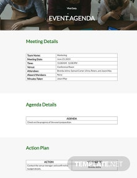 Free Event Agenda Template