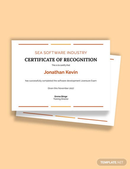Free Software License Certificate Template