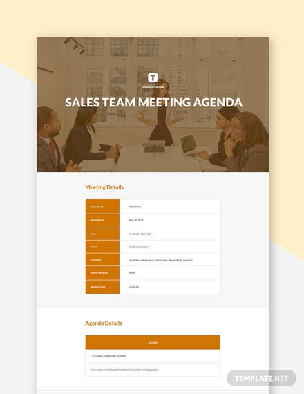 Free Sales Team Meeting Agenda