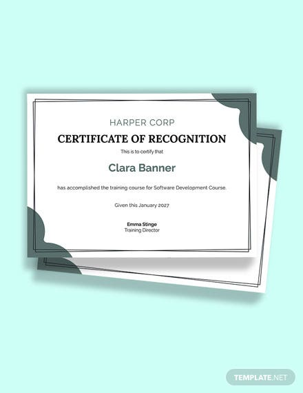 Free Software Training Certificate Template