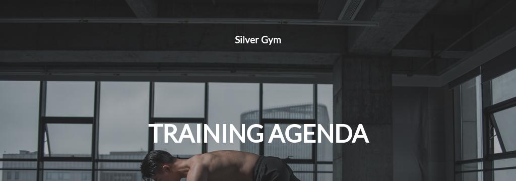 Training Agenda Template