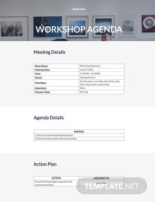 Free Workshop Agenda Template