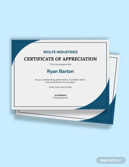 Thanks to Coach Certificate Template