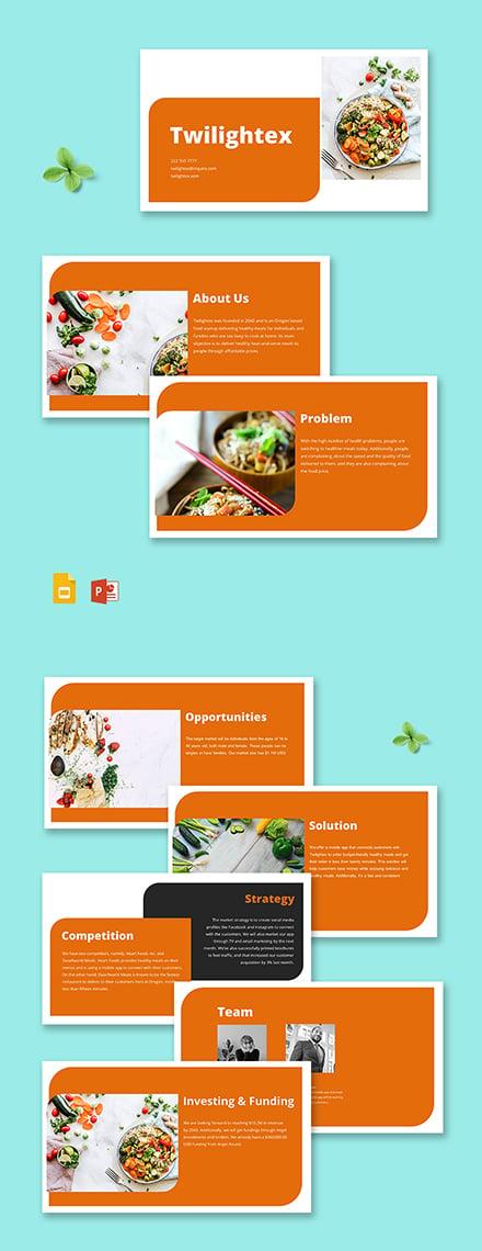 Food Startup Pitch Deck