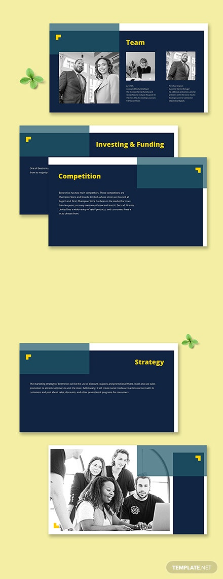 Retail Startup Pitch Deck Printable