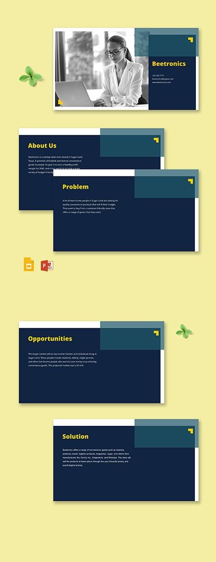 Retail Startup Pitch Deck