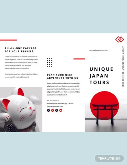 Free Japan Travel Brochure Template Word Doc Psd