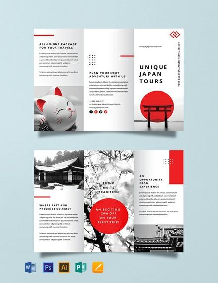 Free Japan Travel Brochure Template