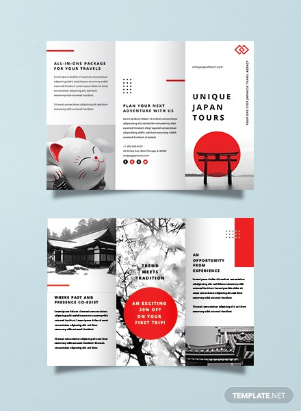 Travel Brochure Templates | Free Japan Travel Brochure Template Download 151 Brochures In Psd