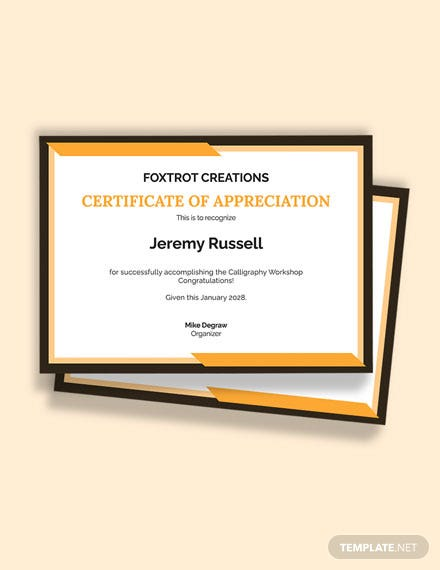 Achievement Congratulations Certificate Template