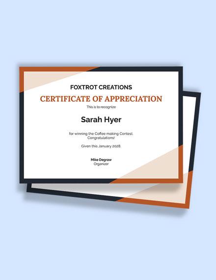 Congratulations Winner Certificate Template