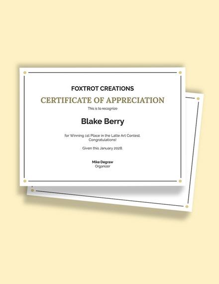Editable Congratulations Certificate Template