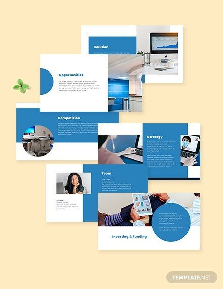 healthcare startup pitch deck editable