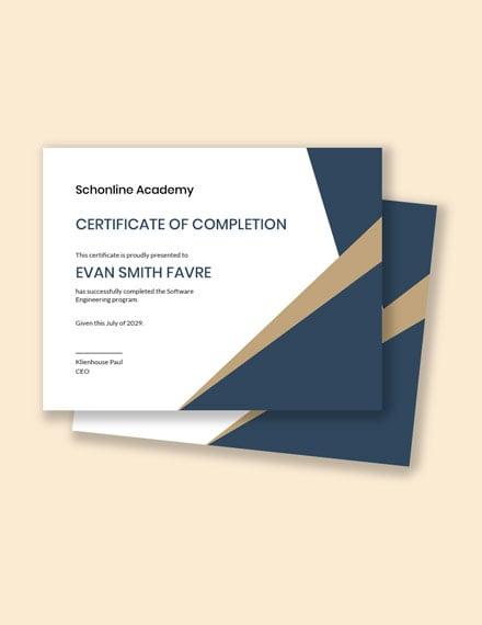 Software Engineering Certificate Template