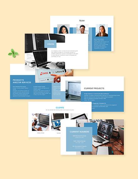 Startup Company Profile Presentation Editable