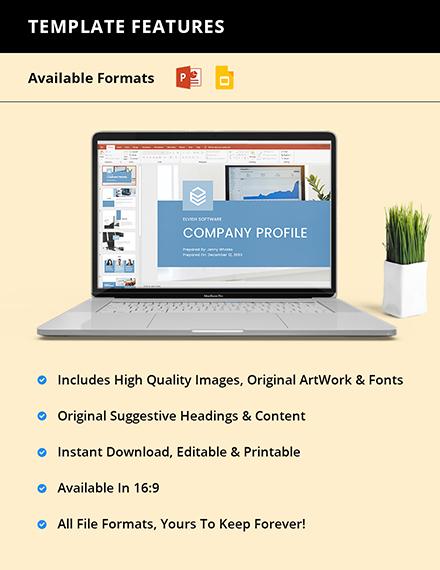 Startup Company Profile Presentation Instruction