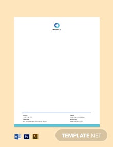 Startup Business Email Letterhead Template