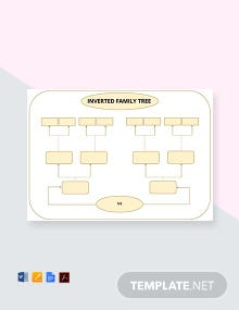 Free Inversed Family Tree Template