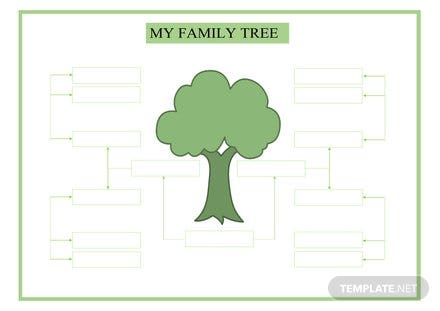 Large Family Tree Template Free Templates