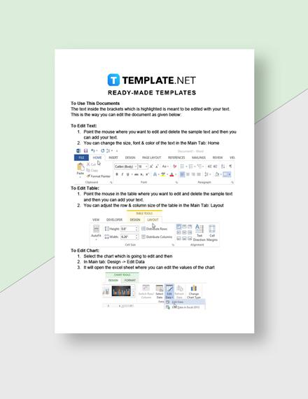 Start Up Business Cost Sheet Template