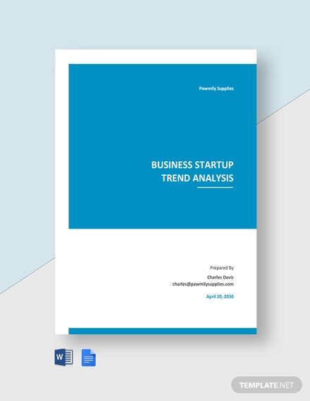 Business Startup Trend Analysis Template