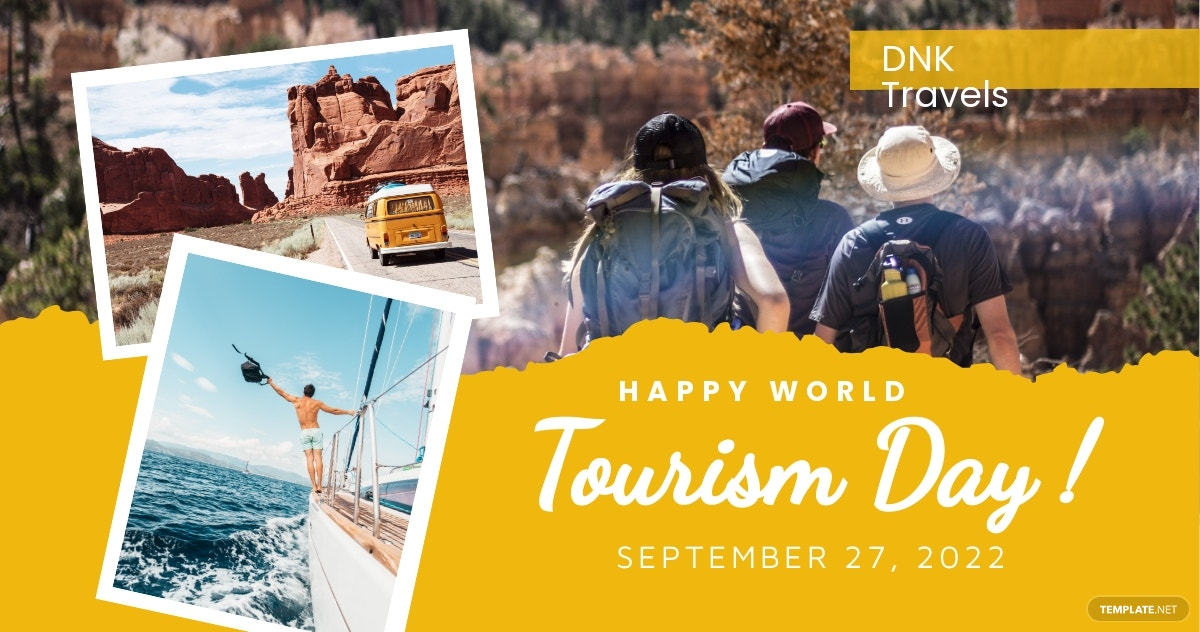 Free World Tourism Day Facebook Post Template.jpe