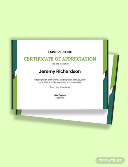 Free Thank You Certificate Template