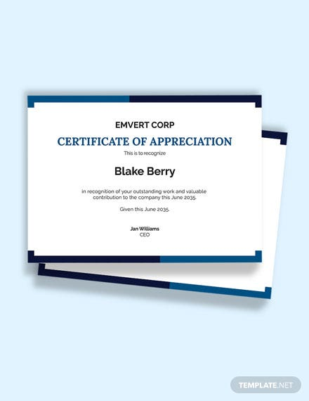 Free Editable Thank You certificate Template