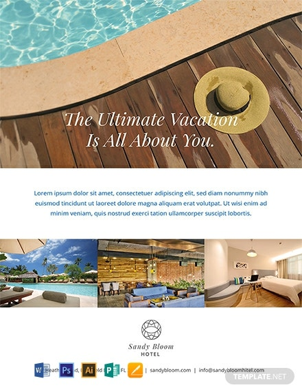 Free Hotel Promotional Flyer Template Word Psd Apple