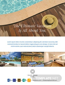 Free Hotel Promotional Flyer Template