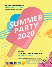 Free Party Promotion Flyer Template