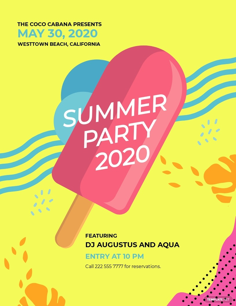 Party Promotion Flyer Template