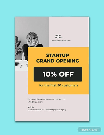 Startup Advertisement Poster Template Printable